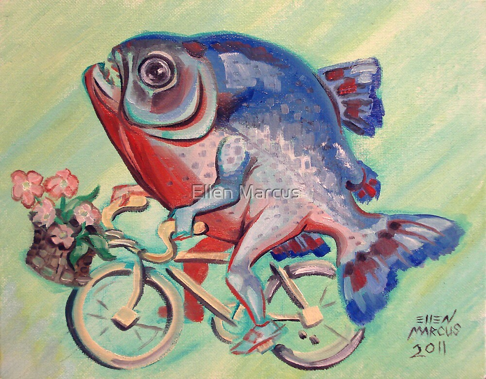Piranha on a Bicycle by Ellen Marcus