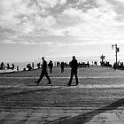 Santa Barbara Pier in B/W by alyssafadera