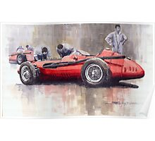 Final check before the start Maserati 250 F 1957 Poster