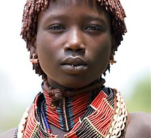 YOUNG WOMAN FROM THE HAMER TRIBE by Nicholas Perry