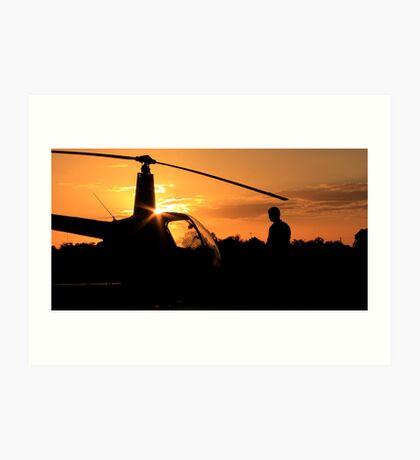 Pre-flight helicopter  Art Print