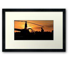 Pre-flight helicopter  Framed Print