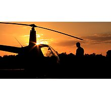Pre-flight helicopter  Photographic Print