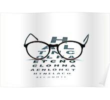 eyeglasses and eye chart Poster