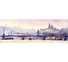 Prague Panorama Chehuv Bridge Photographic Print