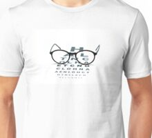 eyeglasses and eye chart Unisex T-Shirt