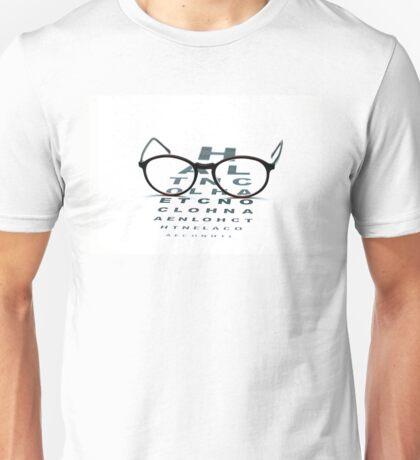 eyeglasses and eye chart Unisex T-Shirt