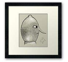 Lemongrab Profile Framed Print