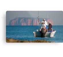 Remote Fishing Metal Print