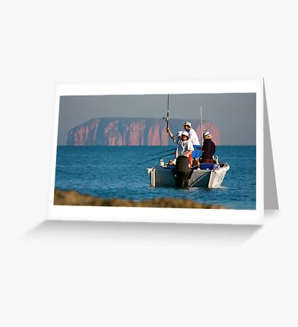 Remote Fishing Greeting Card