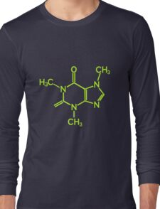 Caffeine Molecule geek funny nerd Long Sleeve T-Shirt