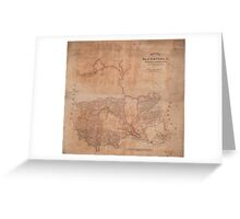 Map of Stafford County Virginia (1863) Greeting Card