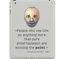 George's point of view iPad Case/Skin