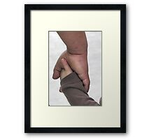 Hold My Hand Framed Print