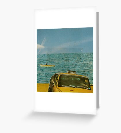 leaving the coastline behind Greeting Card