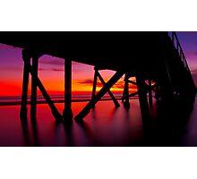 Semaphore Sunset Photographic Print