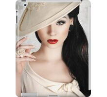 vintage wedding2 iPad Case/Skin