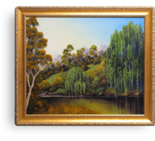 WEEPING WILLOW CREEK Canvas Print