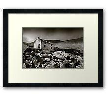 Abandoned Cottage, Achill Island, Ireland Framed Print