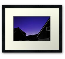The Blue Sky At Night Framed Print