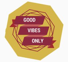 good vibes only yellow  (pls contact for customization of colours) Kids Clothes