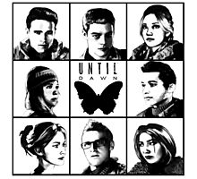 Until dawn - main characters Photographic Print