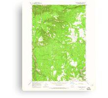 USGS Topo Map Oregon Partridge Creek 281047 1964 24000 Canvas Print