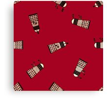 Antique Alien No.1 - Tile Version 001 (Red) Canvas Print
