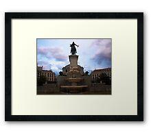 Plaza de Oriente Framed Print