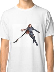 Female Elf Dragon Warrior - 2 Classic T-Shirt