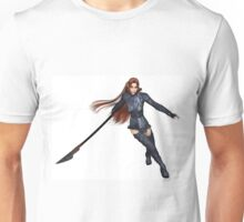 Female Elf Dragon Warrior - 2 Unisex T-Shirt