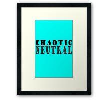 Chaotic neutral geek geek funny nerd Framed Print