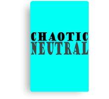 Chaotic neutral geek geek funny nerd Canvas Print