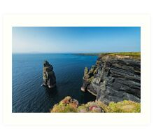 Bromore Cliffs Art Print