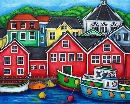 Colours of Lunenburg, Nova Scotia by LisaLorenz
