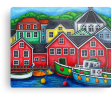 Colours of Lunenburg, Nova Scotia Metal Print