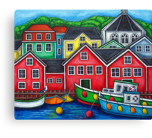 Colours of Lunenburg, Nova Scotia Canvas Print