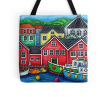 Colours of Lunenburg, Nova Scotia Tote Bag