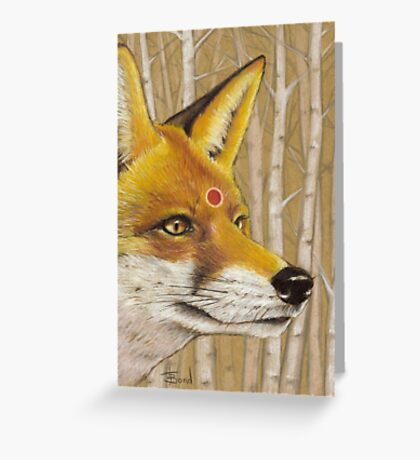 Mr Fox Greeting Card