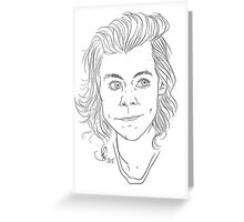 Customisable Harry Styles Line Art Greeting Card