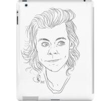 Customisable Harry Styles Line Art iPad Case/Skin