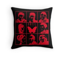 until dawn characters - red/hollow Throw Pillow