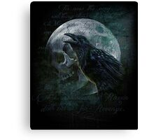 Moon raven skull Canvas Print