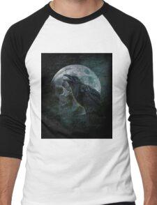 Moon raven skull Men's Baseball ¾ T-Shirt