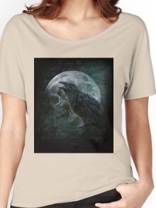 Moon raven skull Women's Relaxed Fit T-Shirt