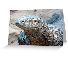 The Face of a Komodo Greeting Card