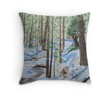 WINTER IN THE SAN JACINTO MOUNTAINS Throw Pillow
