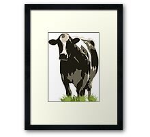 Cow in a Field 02 Framed Print