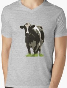 Cow in a Field 02 Mens V-Neck T-Shirt