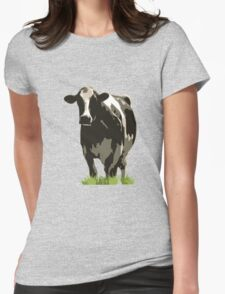 Cow in a Field 02 Womens Fitted T-Shirt